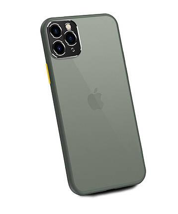 Чехол накладка xCase для iPhone 11 Pro Max Matt Case Camera Lens Gray yellow, фото 2