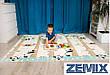 Детский двухсторонний складной коврик Панда\Динозавры 200x180x1см, фото 3