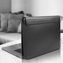 Папка конверт Wiwu Skin Pro2 Leather для MacBook 16'' black, фото 3