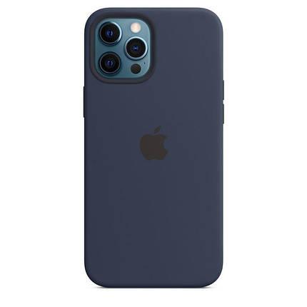 Чохол накладка xCase для iPhone 12 Mini Silicone Case Full темно-синій, фото 2