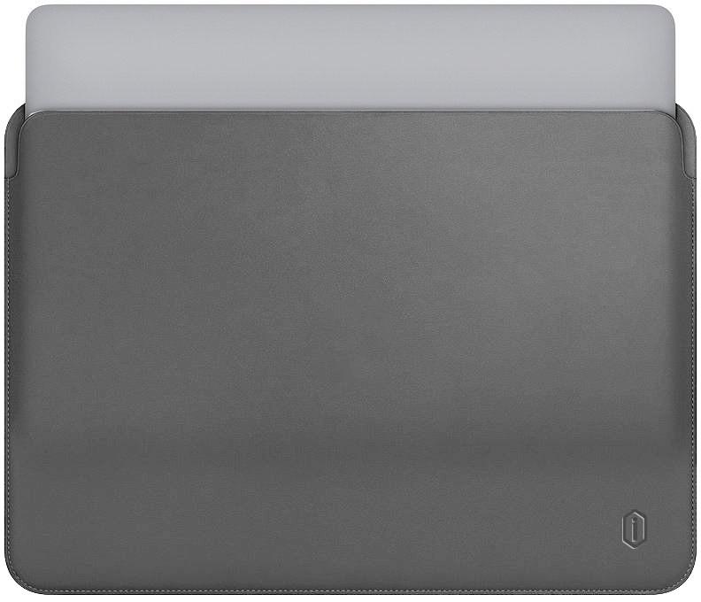 "Папка-конверт Wiwu Skin Pro Leather для MacBook 15"" gray"