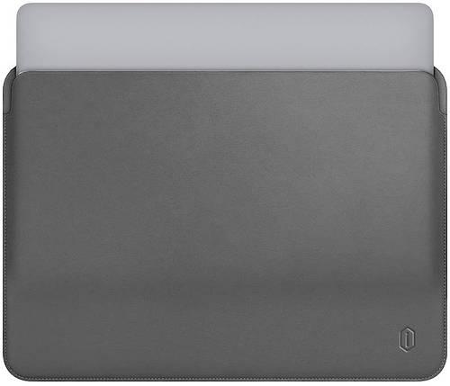 "Папка-конверт Wiwu Skin Pro Leather для MacBook 15"" gray, фото 2"