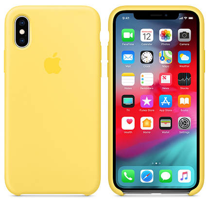 Чехол Silicone Case OEM for Apple iPhone X/XS Canary Yellow, фото 2