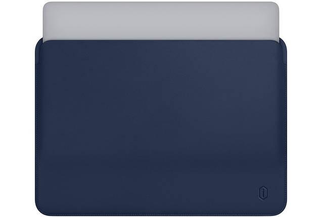 Папка конверт Wiwu Skin Pro Leather для MacBook Air 13,3''  blue, фото 2