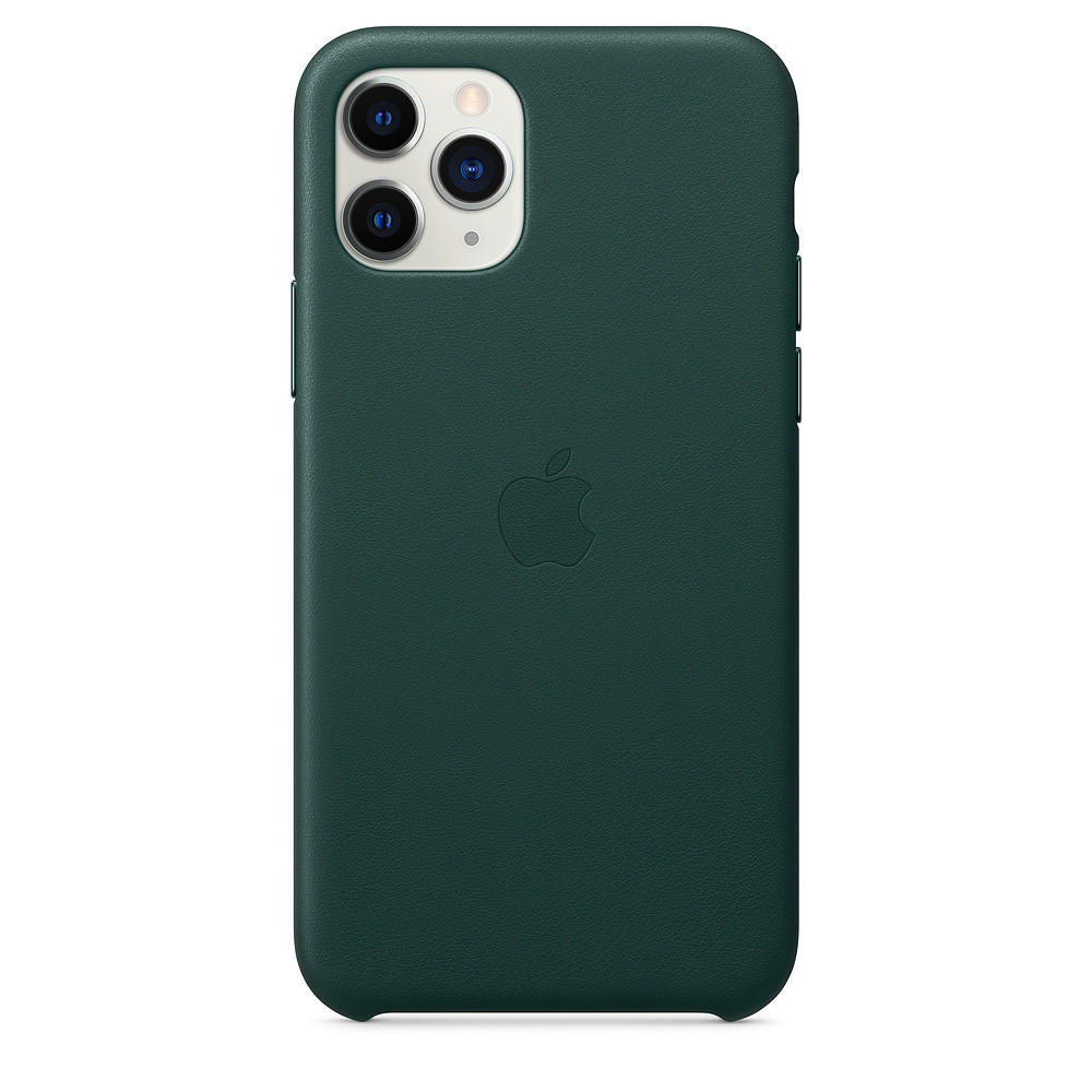 Чохол накладка на iPhone 11 Pro good Leather Case forest green