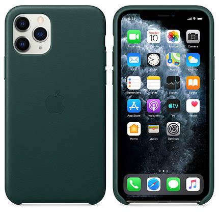 Чохол накладка на iPhone 11 Pro good Leather Case forest green, фото 2