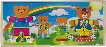 Іграшка дерев. Сім'я ведмедиків 8,5 см в кор-ці,21х9см №XY-5821(120) КІ
