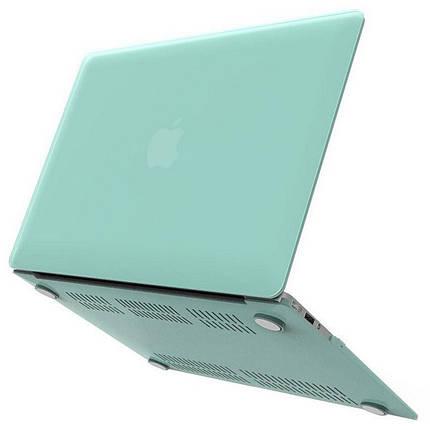 """Чохол накладка DDC пластик для MacBook Air 13"""" (2018/2019/2020) matte sea blue, фото 2"""