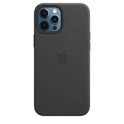 Чохол накладка xCase для iPhone 12/12 Pro Leather case with Full MagSafe Black, фото 2