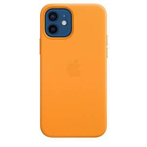 Чохол накладка xCase для iPhone 12 Mini Leather case with Full MagSafe Yellow