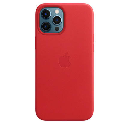 Чехол накладка xCase для iPhone 12 Pro Max Leather case Full with MagSafe Red, фото 2