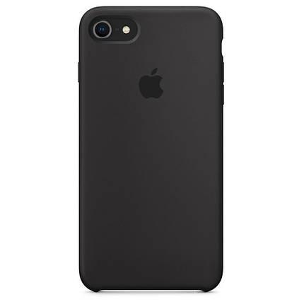 Чохол накладка xCase на iPhone 7/8/SE 2020 Silicone Case темно-коричневий, фото 2