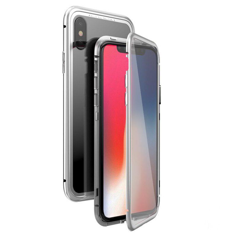 Чохол накладка xCase для iPhone Х/XS Double-sided Magnetic Case transparent білий