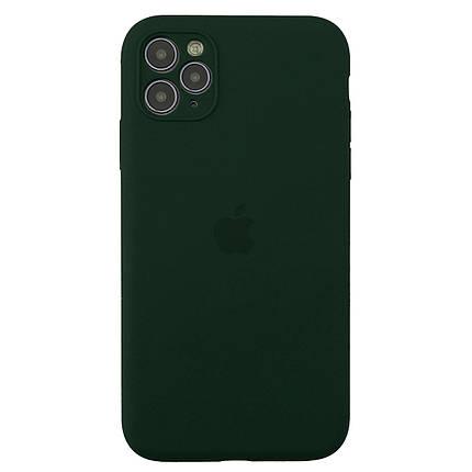 Чехол накладка xCase для iPhone 11 Pro Max Silicone Case Full Camera Forest green, фото 2