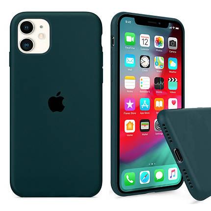 Чохол накладка xCase для iPhone 11 Silicone Case Full forest green, фото 2