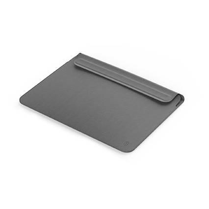 "Папка-конверт Wiwu Skin Pro2 Leather для MacBook 13,3"" gray, фото 2"