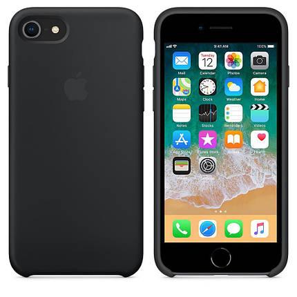 Чохол Silicone Case OEM for Apple iPhone 7/8/SE 2020 Black, фото 2