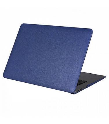 """Чохол накладка DDC пластик для MacBook Pro 13"""" Retina (2012-2015) picture leather blue, фото 2"""