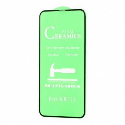 Защитное стекло CERAMIC для iPhone 11 Pro Max /XS Max черный, фото 2