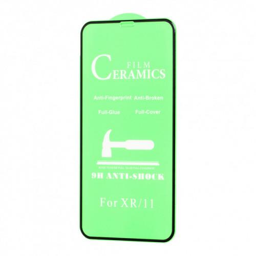 Защитное стекло CERAMIC для iPhone 11 Pro Max /XS Max черный