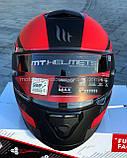 Мото шлем интеграл MT THUNDER 3 SV PITLANE MATT RED, фото 2