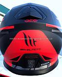 Мото шлем интеграл MT THUNDER 3 SV PITLANE MATT RED, фото 7