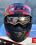 Мото шлем интеграл MT THUNDER 3 SV PITLANE MATT RED, фото 4