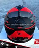 Мото шлем интеграл MT THUNDER 3 SV PITLANE MATT RED, фото 3