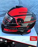 Мото шлем интеграл MT THUNDER 3 SV PITLANE MATT RED, фото 8