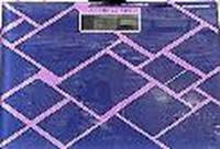 Ваги цифрові підлогові 2015K квадратні з малюнками+підсвічування+датчик температури дисплея (до 180кг)
