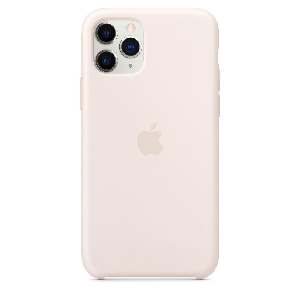 Чохол накладка xCase для iPhone 11 Pro Max Silicone Case молочний