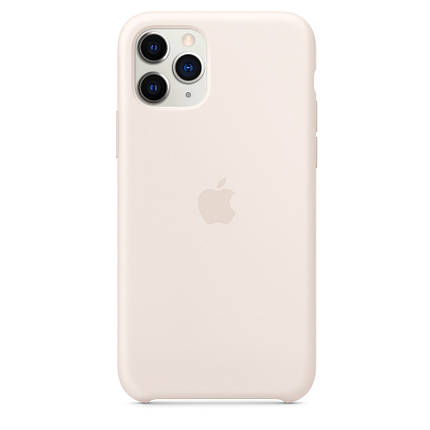Чохол накладка xCase для iPhone 11 Pro Max Silicone Case молочний, фото 2