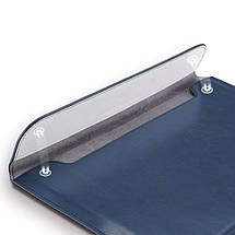 "Папка-конверт для MacBook Leather standing pouch 13"" dark blue, фото 3"