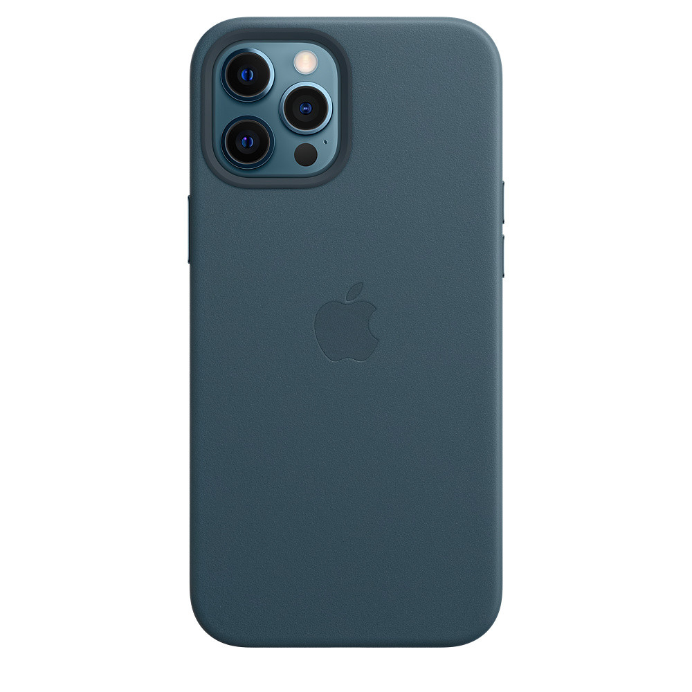 Чохол накладка xCase для iPhone 12 Pro Max Leather case with Full MagSafe Blue