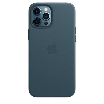 Чохол накладка xCase для iPhone 12 Pro Max Leather case with Full MagSafe Blue, фото 2