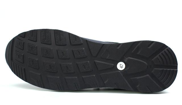 Кроссовки мужские кожаные синие нубук вставки обувь больших размеров Rosso Avangard DolGa Blu Floto BS