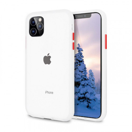 Чехол накладка xCase для iPhone 12 Mini Gingle series transparent red