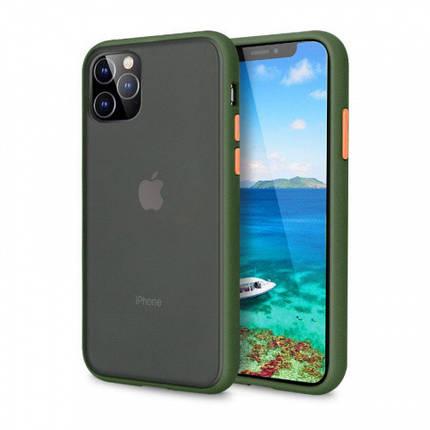 Чохол накладка xCase для iPhone 12/12 Pro Gingle green series orange, фото 2