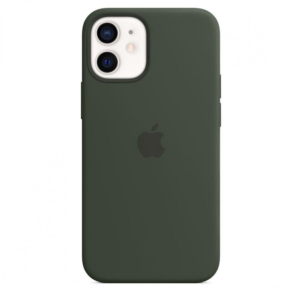 Чехол накладка xCase для iPhone 12 Pro Max Silicone Case Full cyprus green