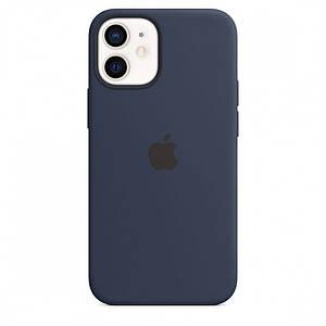 Чохол накладка xCase для iPhone 12 Mini Silicone Case deep Full navy