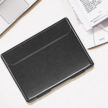 "Папка-конверт для MacBook Leather standing pouch 13"" black, фото 3"