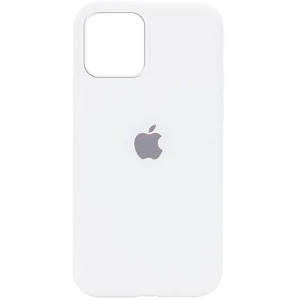 Чохол накладка xCase для iPhone 12/12 Pro Silicone Case Full білий, фото 2