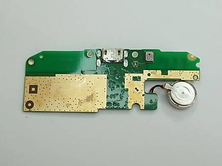 Субплата с разъемом зарядки и вибромотором Asus Zenfone Go 3G X00BD ZB500KG оригинал б.у., фото 2