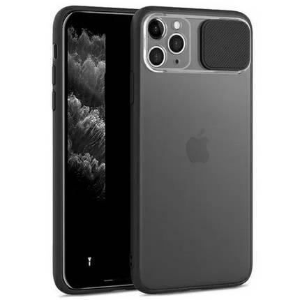 Чехол накладка xCase для iPhone 12 Mini Slide Hide Camera Black, фото 2