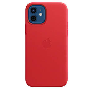 Чохол накладка xCase для iPhone 12 Mini Leather case with Full MagSafe Red