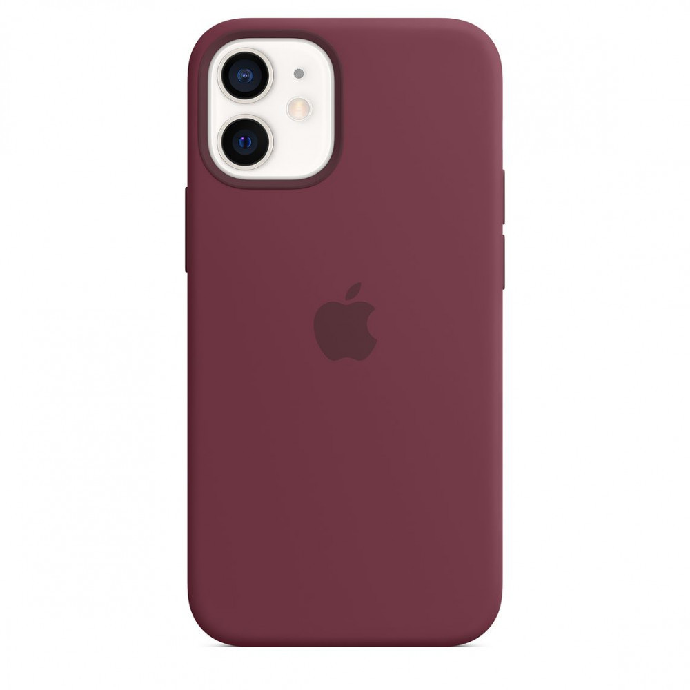 Чехол накладка xCase для iPhone 12 Pro Max Silicone Case Full plum