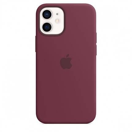Чехол накладка xCase для iPhone 12 Pro Max Silicone Case Full plum, фото 2