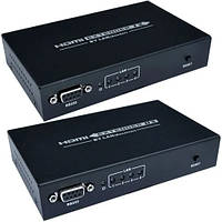 Удлинитель HDMI по витой паре с роутером  (sender + receiver) GC-374