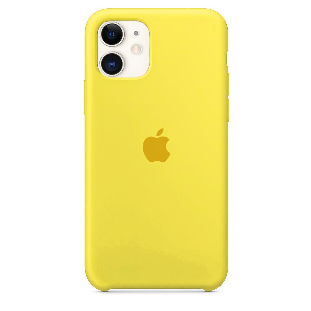 Чехол накладка xCase для iPhone 11 Silicone Case canary yellow