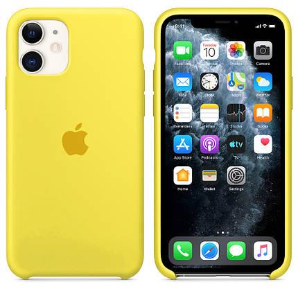 Чехол накладка xCase для iPhone 11 Silicone Case canary yellow, фото 2